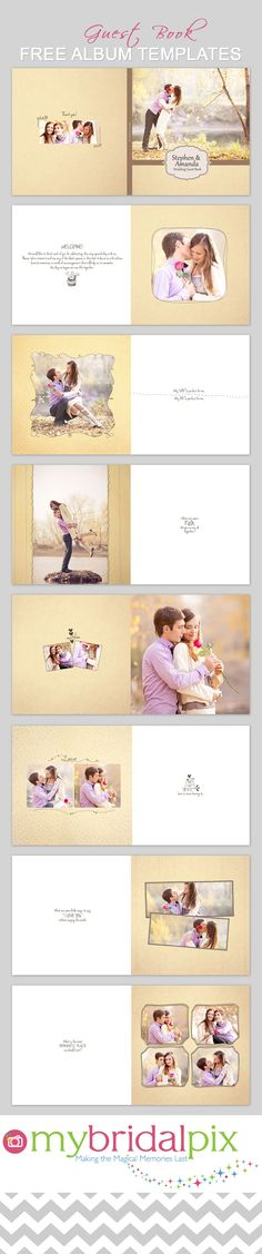 Wedding guest book idea #guestbook #wedding- Create a pro quality guest book for your wedding reception. A great way to show off your engagement photos as create a wonderful keepsake to enjoy for many years to come! www.mybridalpix.com