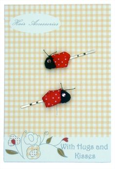 Ladybird Hair Slides by WithHugsandKisses on Etsy, $4.99