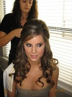 Half Up Half Down Wedding Hairstyle for Brown Hair by tina66