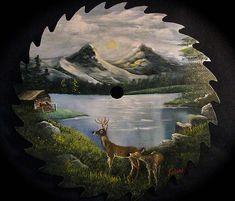 """Mountain Lake Round Blade - 10""""   Joyces Creative Country"""