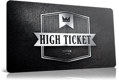 Are you in a high ticket deal?   No links please