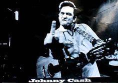 NEW - Johnny Cash- Giving Finger poster (Giant print!) #FUCASH