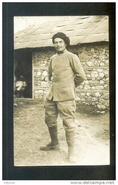 Photo militaria : militaire ( A; Delaunay ) à salonique ( Grèce , Greece )