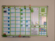 Planbord in fris groen