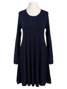 Damen Strickkleid A-Form, blau von Diana bei www.meinkleidchen.de