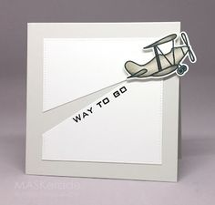 CASology 196 - Move by Ardyth - Cards and Paper Crafts at Splitcoaststampers Congratulations Graduate, Boy Cards, Graduation Cards, Pilot Course, Masculine Cards, Card Tags, Homemade Cards, Birthday Cards, Card Making
