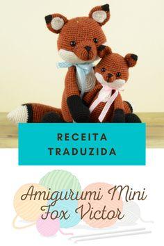 Mini, Fox, Teddy Bear, Animals, Digital Archives, Crochet Animal Amigurumi, Fabric Dolls, Recipes, Animales