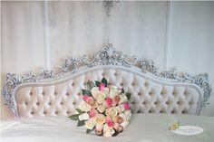 wooden rose bridal bouquet