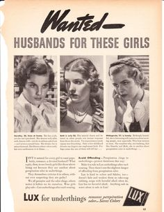 I would be embarrassed to be in this ad if I were these ladies  !Sexist vintage advertising
