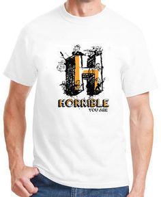 H alphabet t-shirt for men is the best choice for having personalized appearnace! Choose anything right @ WahGifts!