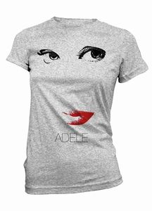 #ADELE EYES AND LIPS WOMEN'S T-SHIRT