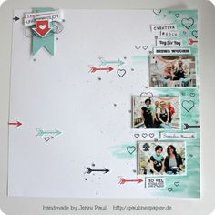 Layout 1212 The post Heute ein Layout 2019 appeared first on Scrapbook Diy. Project Life Scrapbook, Project Life Cards, Scrapbook Journal, Scrapbook Sketches, Scrapbook Page Layouts, Scrapbook Albums, Wedding Scrapbook, Baby Scrapbook, Candy Cards
