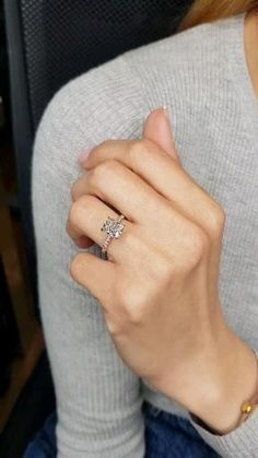 Engagement Rings For Women, Engagement Ring On Hand, Radiant Cut Engagement Rings, Cushion Cut Engagement Ring, Beautiful Engagement Rings, Wedding Rings For Women, Beautiful Rings, Classic Wedding Rings, Ring Verlobung