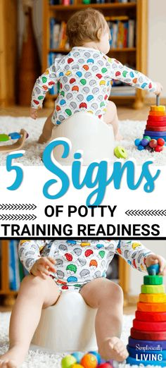 5 Signs of Potty Training Readiness - Is your child ready to be potty-trained? 5 Signs of Potty Potty Training Pants, Toddler Potty Training, Training Tips, Running Training, Best Potty, Toddler Behavior, Toddler Preschool, Kids And Parenting, Parenting Hacks