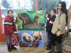 Tabalkon sanat evi Samsun Resim ve seramik kursları   Tuval çoçuk yağlı boya Art paint
