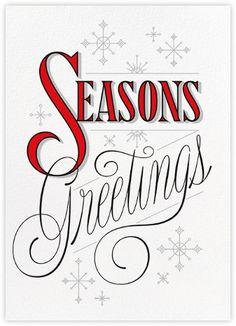 Snowflake Greetings - Paperless Post