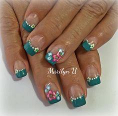 Fingernail Designs, Gel Nail Designs, Hot Nails, Hair And Nails, Colored Nail Tips, Fingernails Painted, Camo Nails, French Acrylic Nails, Holiday Nail Designs