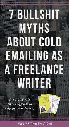 Think freelance writers don't need to send come emails and pitches? Think again! It's one of the best ways to win clients and get paid to write online. This post busts all the cold emailing myths you might've heard! Check it out. :)