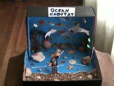 History school projects pinterest history ocean diorama and school project in a shoe box google search sciox Image collections