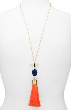 BaubleBar 'Wanderlust' Tassel Necklace available at #Nordstrom