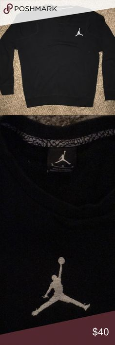 Jordan Brand Crew Neck sweatshirt Black Large Black Jordan Brand crew neck Sweatshirtt. EUC. Hardly worn and no issues with the product. Jordan Shirts Sweatshirts & Hoodies
