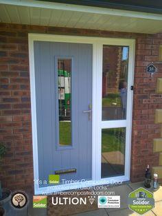 Solidor Timber Composite Doors with Side Panel Gallery Exterior Patio Doors, Doors, Contemporary Front Doors, Timber, Door Installation, Panel Siding, Stable Door, Composite Door, House Front
