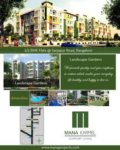 Mana Karmel is onging Project of Mana Projects Comes with 2/3 #BHK #Flats with budget Price at sarjapur Road #Bangalore.  For Booking Or More Info: Visit: www.manaprojects.co.in Call: +91 7676 333 000