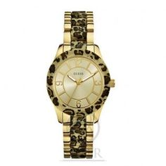 Reloj Guess, modelo animal print,