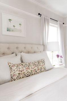 White master bedroom linens