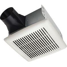 Ae50110dcs Humidity Sensing Bathroom Exhaust Fan With Selectable Cfm Settings Broan Bathroom Fan Bathroom Exhaust Fan Ceiling Exhaust Fan