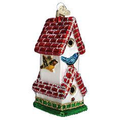 The Jolly Christmas Shop - Old World Christmas Birdhouse Ornament, $13.99 (http://www.thejollychristmasshop.com/old-world-christmas-birdhouse-ornament/)