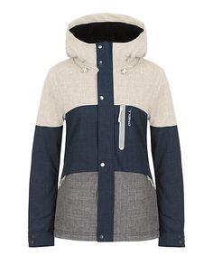 Navy & Cream Coral Jacket - Women