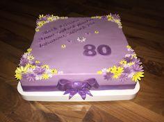 80. Geburtstag cake