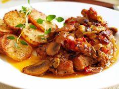 Živáňská pečeně v alobalu – Snadné Vaření Recepty Kung Pao Chicken, Potato Salad, Pork, Food And Drink, Potatoes, Beef, Ethnic Recipes, Google, Red Peppers
