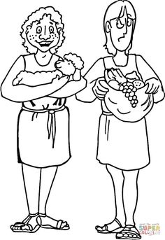 Cain and Abel Coloring Page . Cain and Abel Coloring Page . Cain and Abel Coloring Page Coloring Home Free Bible Coloring Pages, Monster Coloring Pages, Flag Coloring Pages, Coloring Sheets, Coloring Pages For Kids, Free Coloring, Coloring Bible, Printable Coloring, Sunday School Lessons