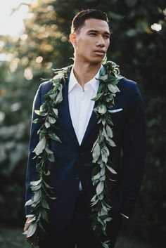This vintage Hawaiian wedding inspiration at Hound & Quail was designed by BLKCORAL with flowers by Orchid and Auahi and images by June Photography. Wedding Groom, Wedding Men, Wedding Attire, Dream Wedding, Wedding Ideas, Church Wedding, Summer Wedding, Wedding Stuff, Wedding Planning