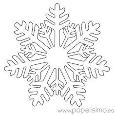Copo De Nieve Para Colorear Ideas Pinterest Christmas