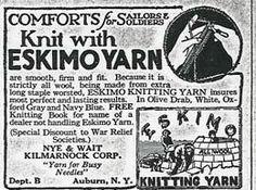 World War I advertisement yarn http://judyweightman.wordpress.com/2012/09/14/over-here-knitting-on-the-homefront-in-world-war-i/
