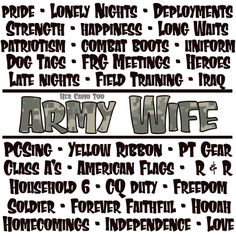 Her Camo Too - Army Wife