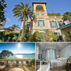 A French Riviera Estate, Once Owned by F. Scott Fitzgerald: Located on the French Riviera, this stunning waterfront property — once owned by The Great Gatsby author F. Scott Fitzgerald — boasts beautiful views and incredible art deco design. The home has seven bedrooms, seven bathrooms, plus a wine cellar and a bar. See all that and more with a glimpse inside this unique estate!  Source: Sotheby's