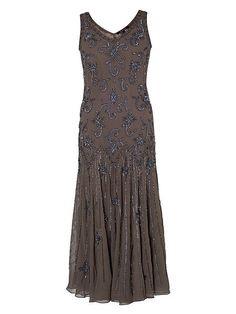 Mink Gunmetal Beaded Dress