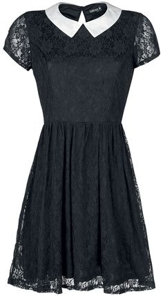 Dress from Gothicana by EMP:  - Lace - Shirt collar - Closure: Button at the back