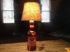 "Budweiser ""MILLENNIUM"" Large Glass Beer Bottle Lamp by Grimmywood on Etsy"