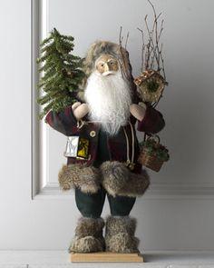 """Santa of Cedar Lodge"" Figure by Lynn Haney All Things Christmas, Christmas Holidays, Christmas Crafts, Merry Christmas, Christmas Decorations, Christmas Ornaments, Holiday Decor, Xmas, Christmas Centerpieces"