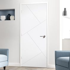 Dover Flush Door - White Primed Fantastic value for money. Source by DirectDoors. Flush Door Design, Single Door Design, Room Door Design, Wooden Door Design, White Interior Doors, Interior Door Styles, Door Design Interior, White Wooden Doors, White Doors