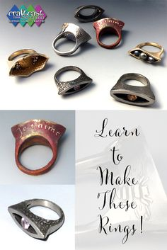 Cindy Pope is at it again -- learn to make these fabulous metal clay rings!
