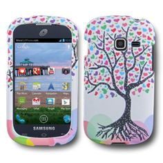 SOGA(TM) White Blue Pink Green Black Purple Red Wishing Colorful Love Tree For Samsung Galaxy Centura S738C Rubberized Design Hard Cover Case + SogaWireless Stylus Pen [SWG6]:Amazon:Cell Phones & Accessories
