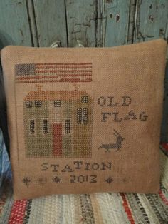 Flag cross stitch miniature rug idea The PinKeep