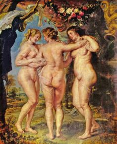 The Three Graces (1636-1638), oil on canvas painting by Peter Paul Rubens