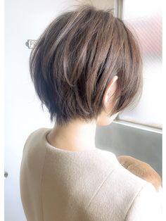 《Agu hair lilou》大人かわいい小顔ひし形ショートボブショート
